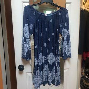 Dresses & Skirts - Blue/white dress